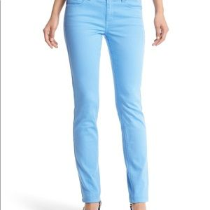 White House Black Market Sky Blue Slim Ankle Jean
